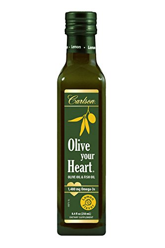 Carlson Olive Your Heart, Lemon, Olive Oil and Omega-3s, 1,480 mg Omega-3s, 250 mL