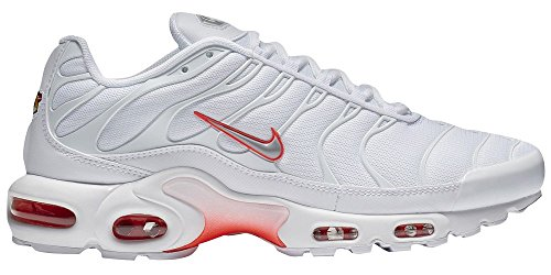 Zapatillas Nike Mens Air Max Plus blanco / gris lobo / brillantes carmes¨ª sint¨¦ticas 8 M US