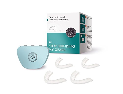 Price comparison product image Professional Dental Guard - Pack Of 4 - Stops Teeth Grinding, Bruxism & Eliminates Teeth Clenching. Includes Fitting Instructions & Anti-Bacterial Case. 100% Satisfaction Guaranteed Nightguard!
