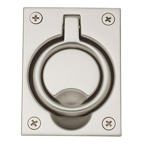 Baldwin Flush Ring Pull - Baldwin 0395150 Flush Ring Pull, Satin Nickel
