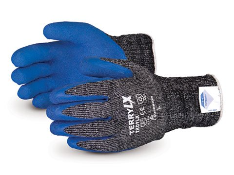 y LX Cold Composite Terry-Knit Winter Glove with Dyneema and Latex Palm, Work, Cut Resistant, Large (Pack of 1 Pair) ()