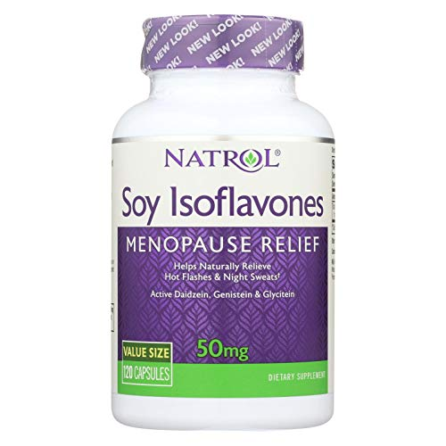 Natrol Womens Soy Isoflavones 50Mg Capsules For Monopause Relief - 120 Ea(pack of 1)
