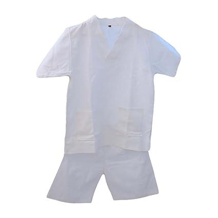 Blancho Bedding Pullover Estilo Kimono Suelta Pijama Algodón Waffle Tela Khan Ropa de Vapor