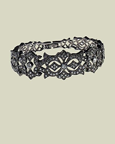 SIVALYA STARLIGHT Bracelet in 925 Sterling Silver with CZ, Black Rhodium plated over Solid Silver, Great Gift for Her by Sivalya