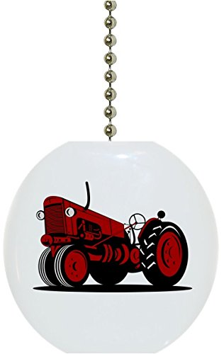 Red Vintage Tractor Solid Ceramic Fan ()