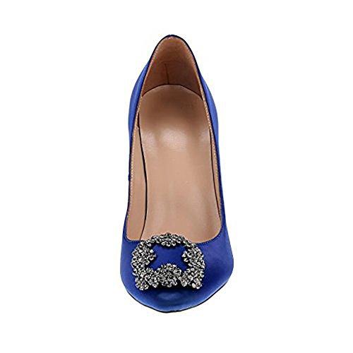 sur Arraysa Aiguille 12CM Chaussures sinoel Glisser Bleu Escarpins Femme nFTFtBrqX