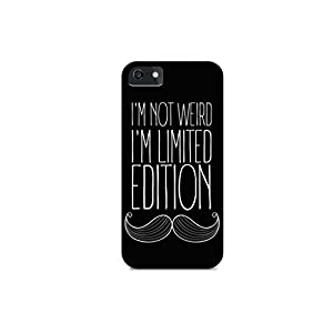 iPhone 4/iPhone 4S - Hard Plastic Case - Cover ALL Sides - I'M Not Weird, I'M Limited Edition - Mustache - Mustache Art - Quotes - Fun Quotes - Teenager Quotes