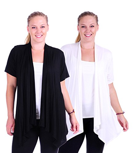 Simply Ravishing SR Womens Plus Size Basic Various Sleeve Open Cardigan (Size: 1X-5X)