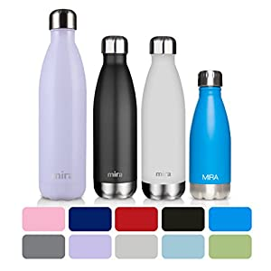MIRA Stainless Steel Vacuum Insulated Water Bottle | Leak-proof Double Walled Cola Shape Bottle | Keeps Drinks Cold for 24 hours & Hot for 12 hours (Lavender Violet, 25 oz (750 ml, 0.8 qt))