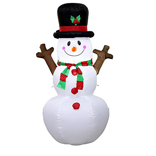 Christmas Lighted Inflatable Snowman Hat LED Yard Art Decoration Yard ()