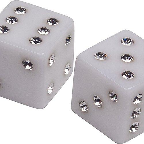 Bello Games Collezioni - Via Manzoni Dice Set from Italy with Swarovski Crystals
