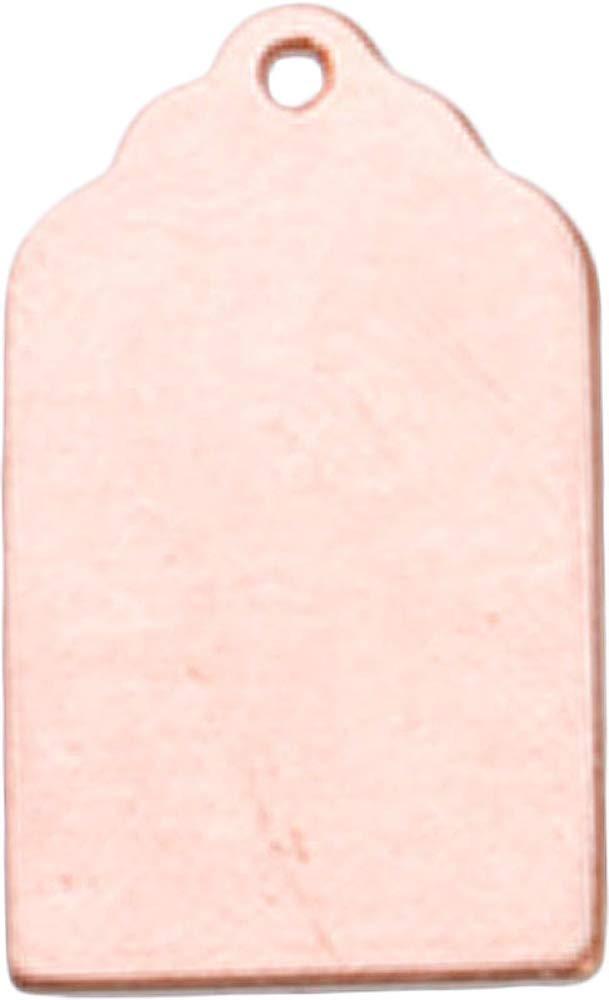Copper 24 Ga- 13/16インチ X 1/2インチ 荷物タグ 穴付き   B00A980S4Q