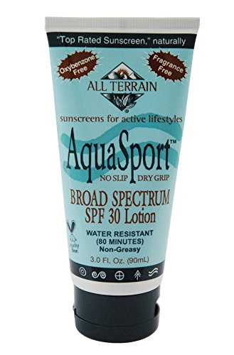 All Terrain AquaSport SPF30 Natural Sunscreen Lotion (3- Ounce)