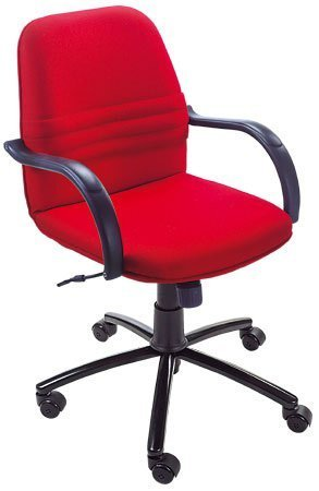 Anmol Adjustable Office Chair   Revolving Executive Low Back Staff Chair  For Office U2013 Red