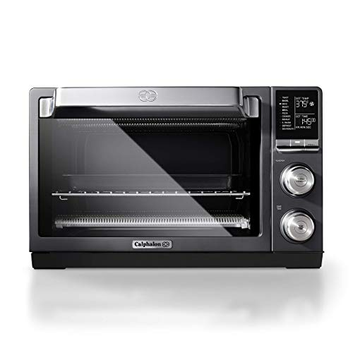 Calphalon Quartz Heat Countertop Toaster Oven, Dark Stainless Steel (Renewed)
