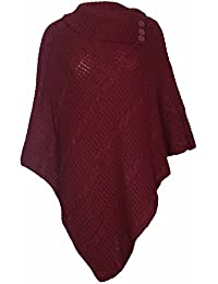 PurpleHanger Women's Plus Size Poncho Shawl Shrug Jumper Top