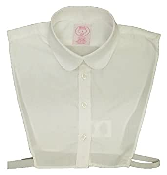 Blooks Womens Peter-Pan Collar Easy-Care Dickey - Half Shirt Ivory XS