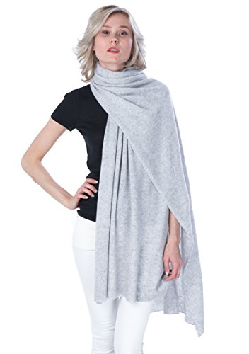 Scarf Cashmere Ribbed (100% Cashmere Wrap Shawl Stole Extra Large Scarf -by cashmere 4 U)