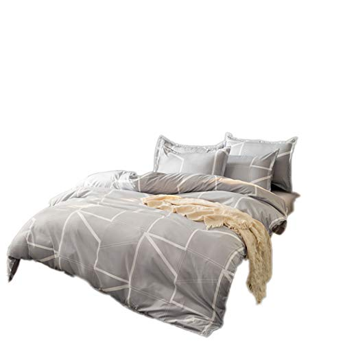 Amore Bridal Modern Fashion Geometrical Line Printing Bedding Sets Soft Duvet Cover Pillowcase ()