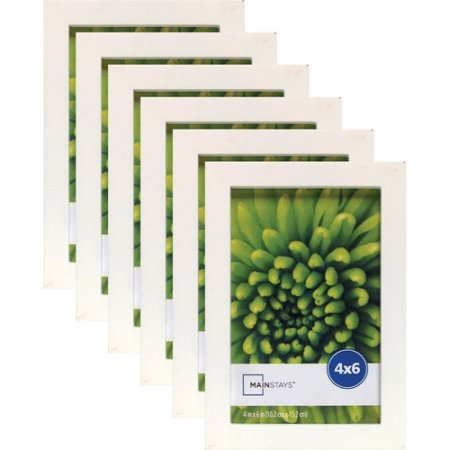 """Price comparison product image Mainstays Linear 4"""" x 6"""" White Frame,  Set of 6"""