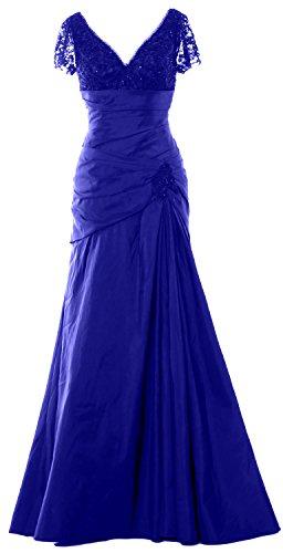 Women Dress V Macloth Royal Of Neck Mother Formal Evening Short Bride Blue Gown Sleeve Long 4RcAjqL35