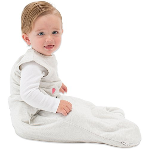 TEALBEE BABY: Sleeping Sack for Babies; Bamboo & Cotton Wearable Blanket for Safe Sleep; Keeps Newborn and Infant Warm from Spring to Winter; Unisex Design for Boys and Girls (Small, Heather Grey) by Tealbee