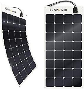 SunPower 100 Watt Flexible Monocrystalline High Efficiency Solar Panel