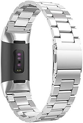 Amazon.com: UMTELE - Correa de metal compatible con Fitbit ...