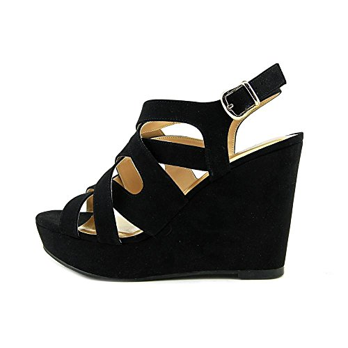 Open Suede Sodi Womens Casual Toe Thalia Sandals Maddora Black Platform IqOAxwUfp
