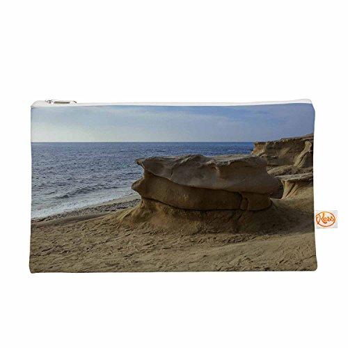 Kess eigene 12,5x 21,6cm Nick nareshni Rocks on the Beach Alles Tasche–Tan/Blau