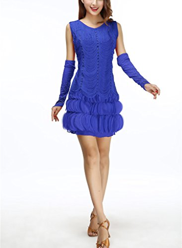 Whitewed Fringe Daisy in The Great Gatsby Age Halloween Costume Dress Appearance Blue - Daisy Gatsby Dress