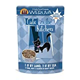 Weruva Cats in the Kitchen Grain-Free Natural Wet Cat Food Pouches - 1 If By Land - 2 If By Sea - 3-Ounce Pouch (Pack of 12)