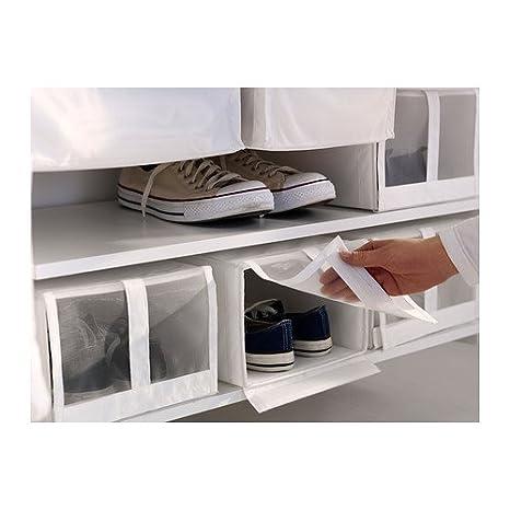 IKEA SKUBB - caja de zapatos, blanco / 4 Pack - 22x34x16 cm: Amazon.es: Hogar