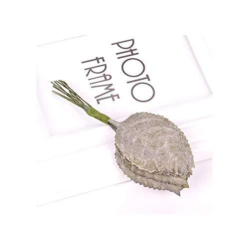 huayun Retro Tree Leaf Artificial Flowers for Wedding Home Decoration DIY Craft Wreath Gift Fake Flower Accessories,1