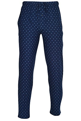Hanes Men's Printed Knit Sleep Pant Navy
