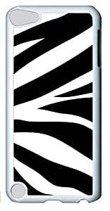 Fashion Customized Case for iPod Touch 5 Generation White Cool Plastic Case Back Cover for iPod Touch 5th with Zebra Pettern Stripes