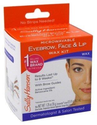 Sally Hansen Microwaveable Wax Kit For Eyebrow/Face/Lip by Sally (Sally Hansen Microwaveable Eyebrow)