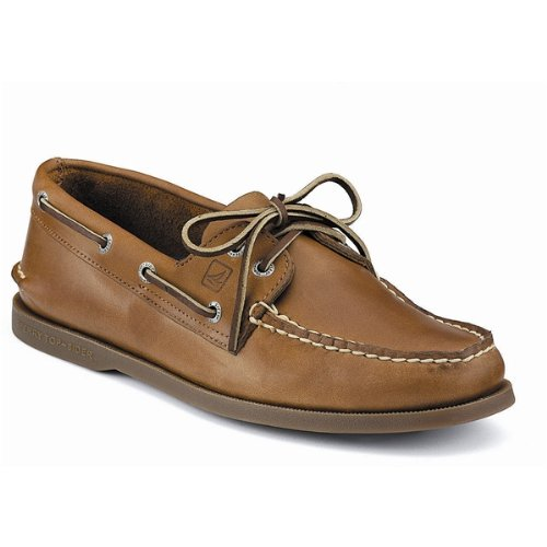 Shoes Deck Boat - Sperry Men's A/O 2-Eye Boat Shoe,Sahara,10.5 XW US