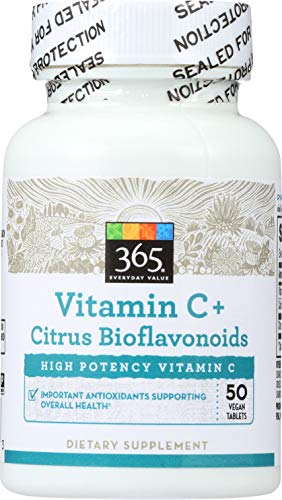(365 Everyday Value, Vitamin C + Citrus Bioflavonoids, 50 ct)