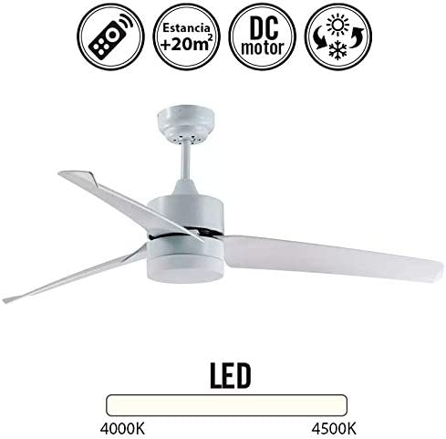 TODOLAMPARA - Ventilador DE Techo LED Modelo ASPRO Blanco: Amazon ...