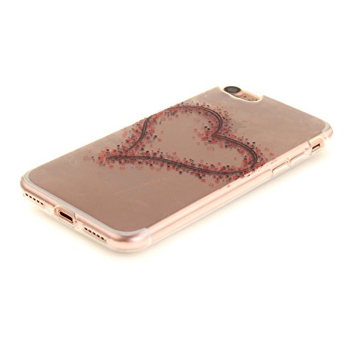 MOONCASE iPhone 7 Hülle Case,Slim Handyhülle Schutzhülle Rutschfestem TPU Soft Backcover Bumper Case für iPhone iPhone 7 TX23
