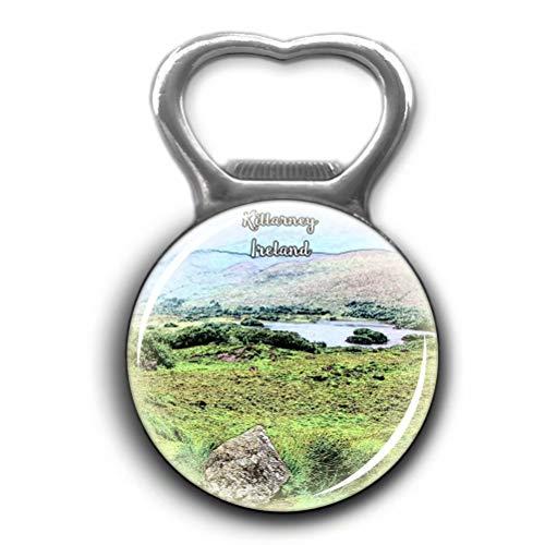 Killarney National Park Ireland Opener Metal Fridge Magnet Crystal Glass Round Beer Bottle Opener City Souvenir Home Kitchen Decoration Gifts ()