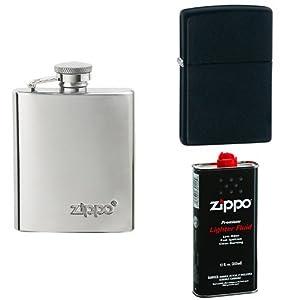 Zippo Flask Gift Bundle