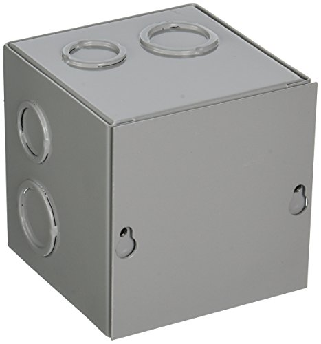 Nema 4 X Junction Boxes (BUD Industries JB-3951-KO Steel NEMA 1 Sheet Metal Junction Box with Knockout and Lift-off Screw Cover, 4