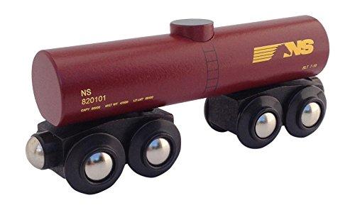 Norfolk Southern Tank Car magnetic wooden train (Wooden Car Tank)