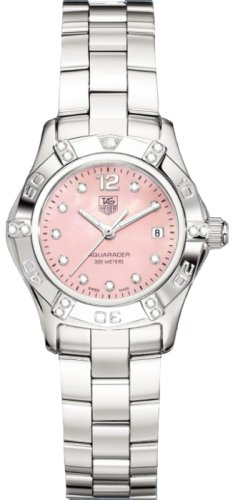 Two Row Diamond Watch (TAG Heuer Women's WAF141H.BA0813 Aquaracer 2000 Diamond Accented Watch)