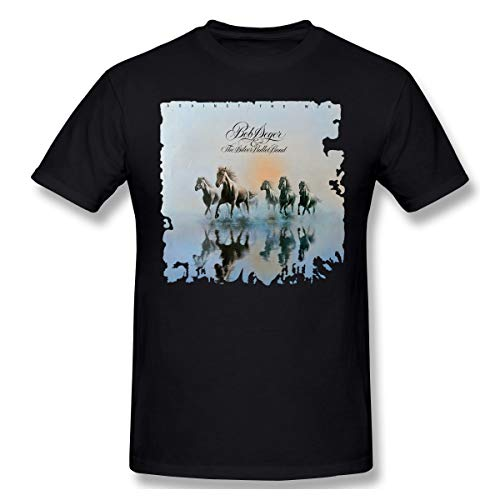 Wind The Bob Against Seger (Bob Seger-Against The Wind Men Fashion Short Sleeve Shirt Black L)
