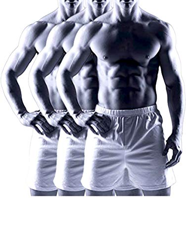 Joseph Abboud Men's 3 Pack Knit Jersey Boxers (Medium, White)