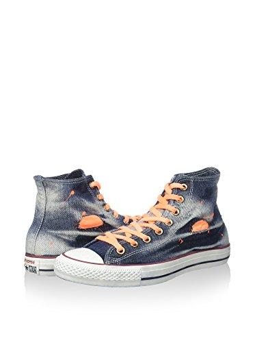 Converse All arancione Eu 40 Sneaker 7 Alta Denim Navy Blu us Star Hi 4x14n