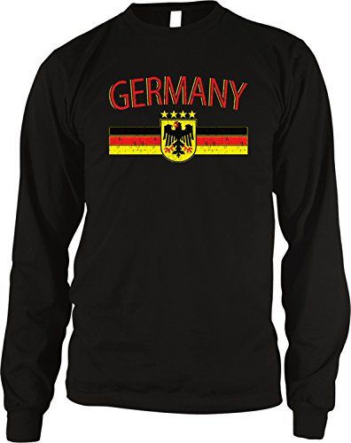 - Amdesco Germany Flag and Country Emblem Men's Long Sleeve Thermal Shirt, Black XL